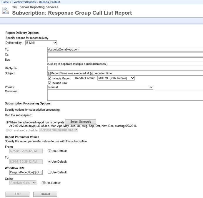 Scheduling Skype for Business Server Reporting - the UC Guys