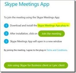 Skype for Business CU5 introduces Skype Meetings App Plugin