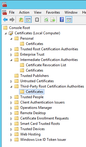 Replacing Certificates in Skype for Business Server causes